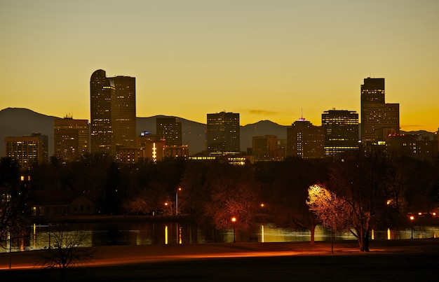 Denver city park e skyline