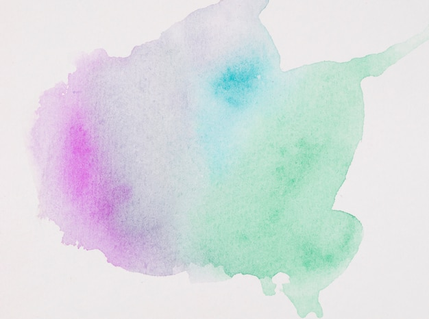 Derramamentos de aquarela multicolorida