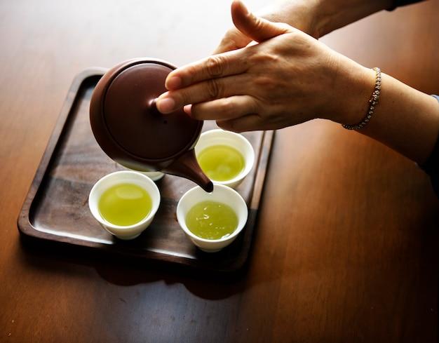 Derramando chá