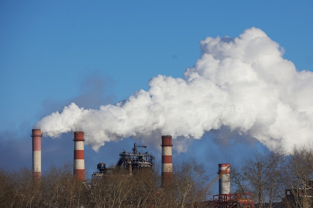 Desastre ambiental. ambiente pobre na cidade. ambiente de emissões prejudiciais