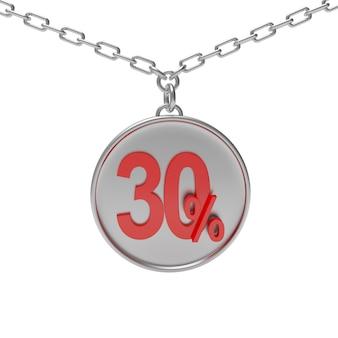 Desconto percentual em chaveiro redondo