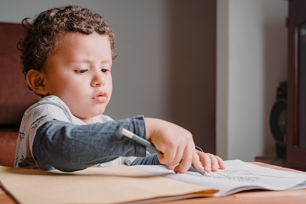 Desenhar e colorir seu personagem favorito. crianças aprendendo em casa