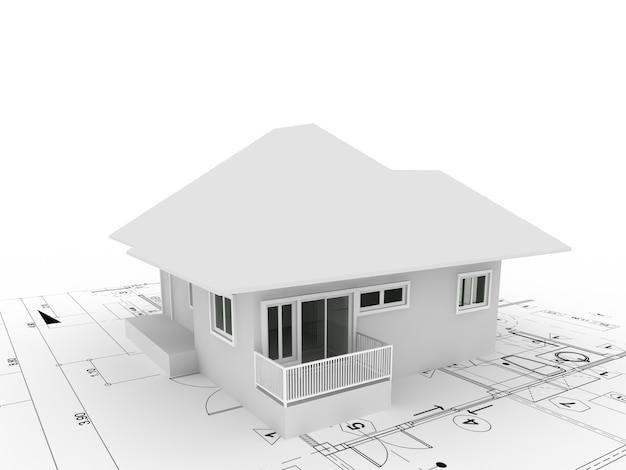 Desenho abstrato da casa exterior