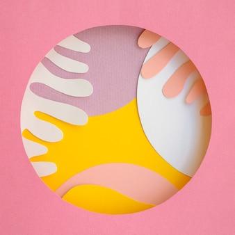 Desenho abstrato de fundo geométrico de papel