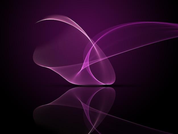 Desenho abstrato de linhas fluidas roxas