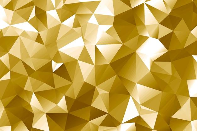 Desenho abstrato de polígono dourado