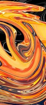 Desenho abstrato, fundo feito em cores brilhantes de tinta na água. arte moderna. técnica de pintura flutuante. papel de parede aquarela ou pano de fundo para dispositivo com ondas e curvas de amarelo e preto.