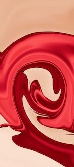 Desenho abstrato, fundo feito em cores brilhantes de tinta na água. arte moderna. técnica de pintura flutuante. papel de parede aquarela ou pano de fundo para dispositivo com ondas e curvas de vermelho e amarelo.