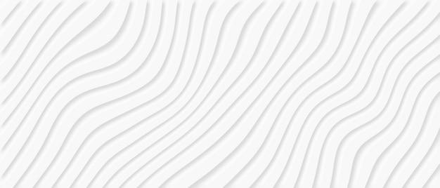 Desenho abstrato neumorfismo listras movimento da onda, geometria branca moderna ondulação forma de linha animação apresentação ilustração fundo