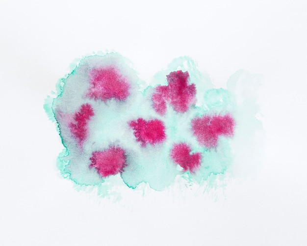Desenho abstrato rosa e verde mancha