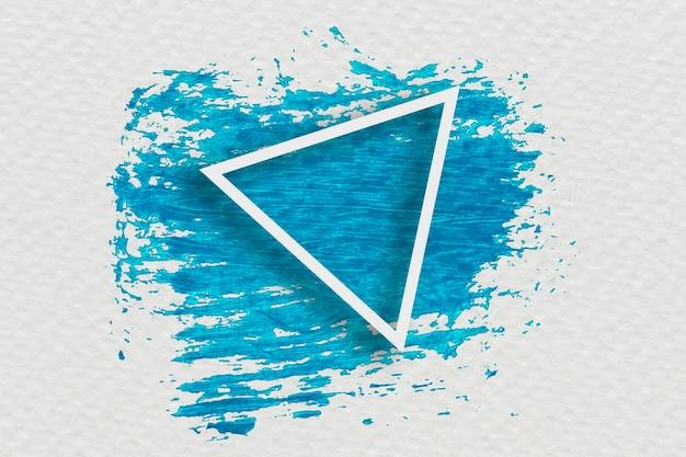 Desenho de banner com pincelada azul