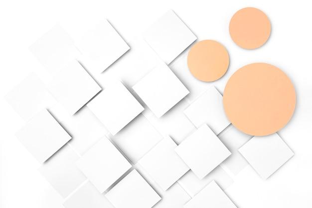 Desenho de fundo de círculos e quadrados