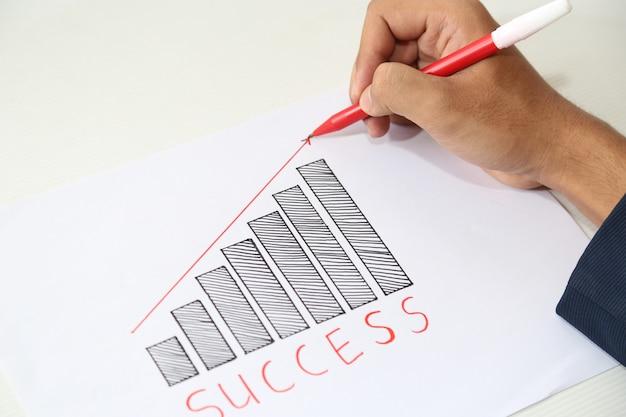 Desenho de mão gráfico de sucesso de negócios