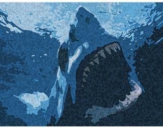 Desenho do tubarão azul