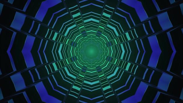 Desenho geométrico do portal de ficção científica 4k uhd ilustração 3d