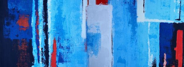 Desenho pintura azul arte abstrata panorama fundo cores textura desenho ilustração