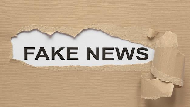 Desenho riscado com mensagem de notícia falsa
