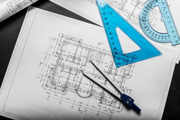 Desenhos de planejamento de construção