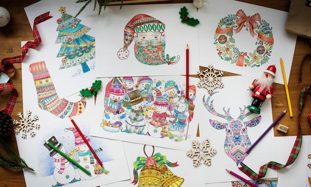 Desenhos de tema de natal