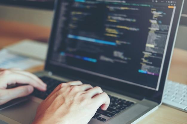 Desenvolvendo programador desenvolvimento web design e codificação de tecnologias