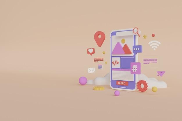 Desenvolvimento de aplicativos móveis de renderização 3d