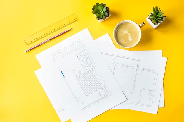 Desenvolvimento de design e layout do apartamento