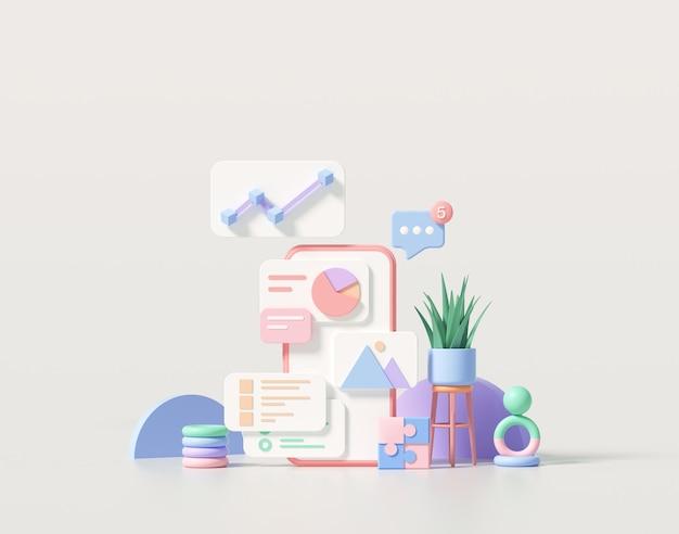 Desenvolvimento mínimo de aplicativos móveis e web design móvel