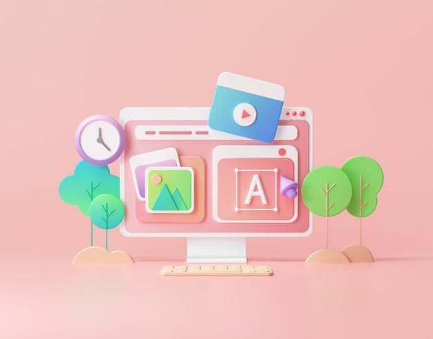 Desenvolvimento web 3d e marketing de otimização de seo
