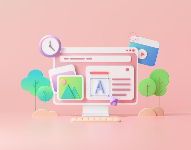 Desenvolvimento web e marketing de otimização de seo