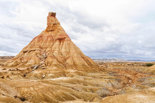 Deserto dos bardenas reales na espanha