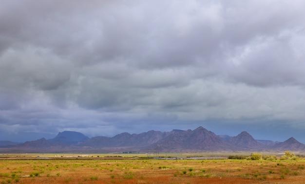 Deserto, oeste, texas, panorâmico, sobre, sudoeste, deserto, e, montanhas, eua