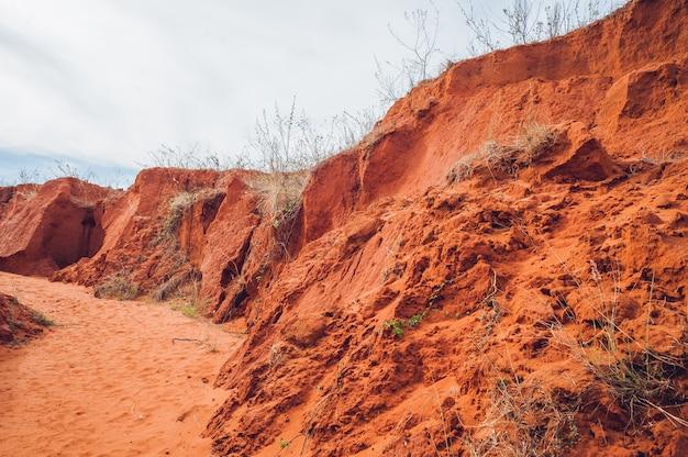 Desfiladeiro vermelho perto de mui ne sul do vietnã