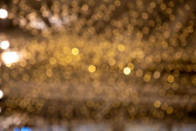 Desfocado desfoque de fundo de festão de ano novo bokeh