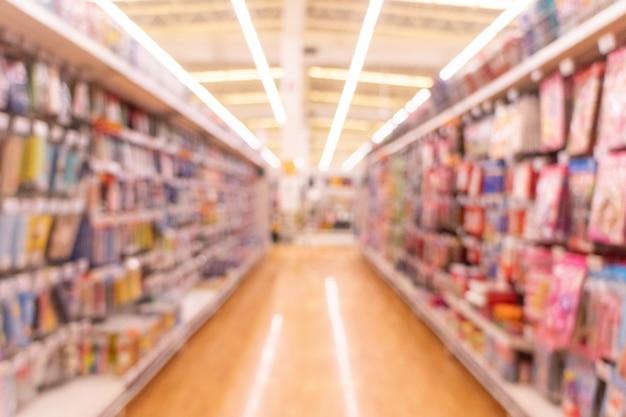 Desfocado do supermercado como pano de fundo