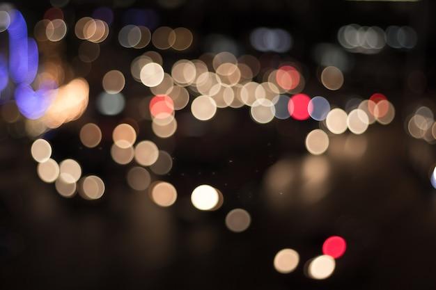 Desfocar a imagem das luzes