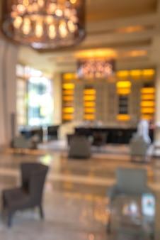 Desfocar fundo do lobby do hotel