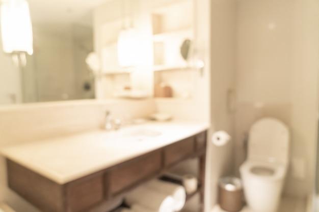 Desfocar o banheiro no hotel resort para segundo plano