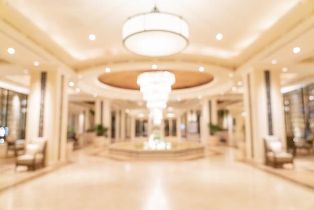 Desfocar o lobby do hotel de luxo