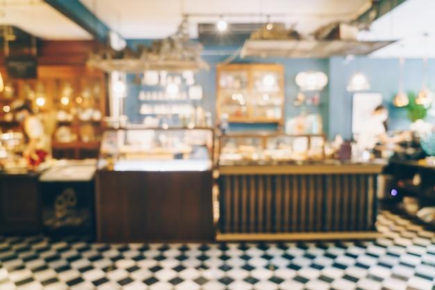 Desfoque abstrato e café e restaurante desfocado como plano de fundo
