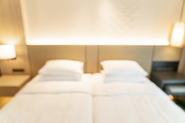 Desfoque abstrato e quarto de resort de hotel desfocado para segundo plano