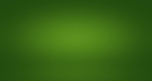 Desfoque abstrato estúdio vazio de gradiente verde, bem, use como modelo de site de fundo de relatório de negócios