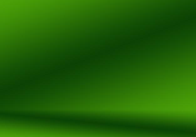 Desfoque abstrato estúdio vazio de gradiente verde, bem, use como modelo de site de plano de fundo para relatório de negócios
