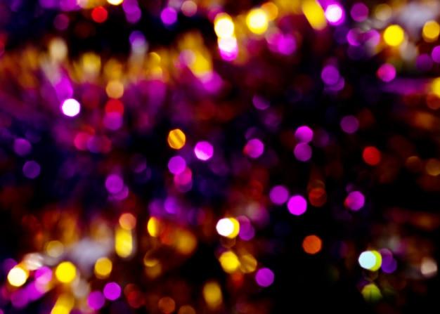 Desfoque bokeh de luz. fundo desfocado de natal.