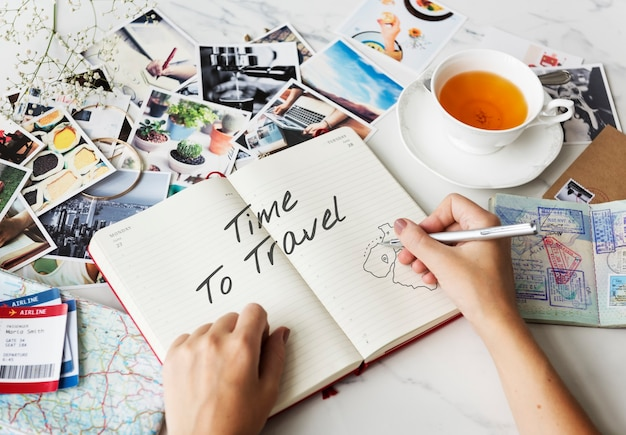 Desfrute do conceito de viagem de viagens de férias