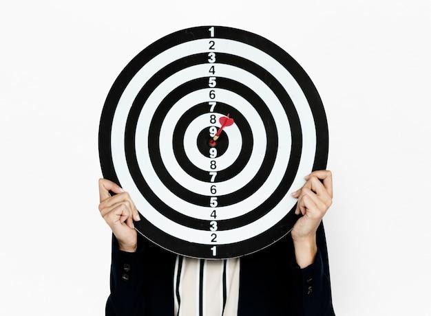 Desgaste do negócio de bullseye do dartsboard