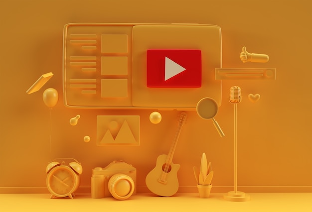 Design criativo de renderização em 3d para banner da web, material de marketing, apresentação de negócios, publicidade online.