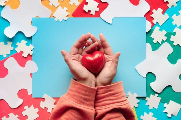 Design criativo para 2 de abril, dia da conscientização mundial do autismo