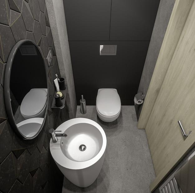 Design de arquitetura 3d elegante