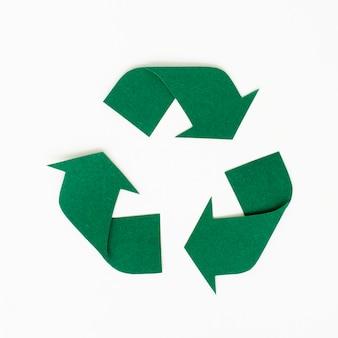 Design de artesanato de papel de ícone de reciclagem