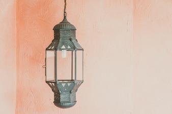 Design de decoração de lanterna árabe